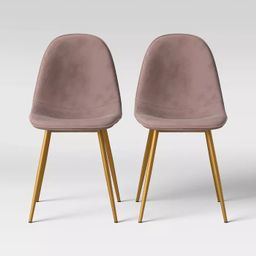 Copley Velvet Dining Chair with Brass Leg - Project 62™ | Target