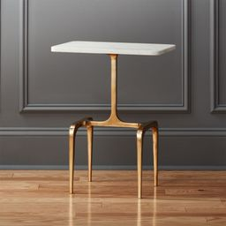 Oxford Marble and Brass Side Table + Reviews   CB2   CB2