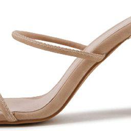 VETASTE Women Double Straps Heel Sandals Square Open Toe Party Dress Shoes   Amazon (US)