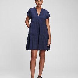 100% Organic Cotton Splitneck Mini Dress   Gap (US)