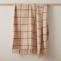 Heather Taylor Home Handwoven Plaid Throw   West Elm (US)
