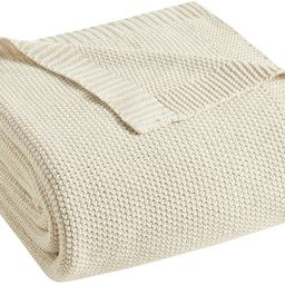 INK+IVY Bree Knit Luxury Knit Throw Ivory 50x60 Knit Premium Soft Cozy Acrylic For Bed, Couch or ...   Amazon (US)