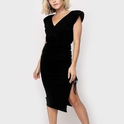 Sleeveless Surplice Ruched Cinched Dress | Gibson
