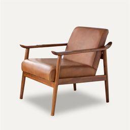 Mid Century Modern Harmony Leather Accent chair - Walmart.com   Walmart (US)