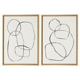 "Kate and Laurel Abstract Framed Canvas Art Prints, 18"" x 24"", Set of 2 - Walmart.com   Walmart (US)"