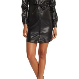Belted Faux Leather Shirt DressTRUTH BY REPUBLIC   Nordstrom Rack