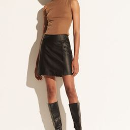 Leather Mini Skirt   Vince LLC