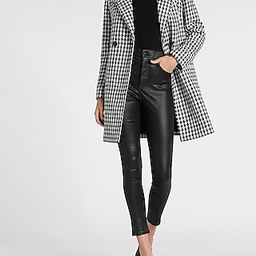 Houndstooth Boucle Double Breasted Car Coat   Express