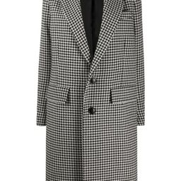 single-breasted houndstooth coat   Farfetch (US)