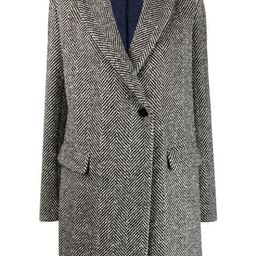 herringbone single-breasted coat   Farfetch (US)