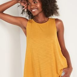 Luxe High-Neck Slub-Knit Tank Top for Women | Old Navy (US)