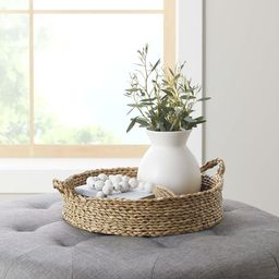 """Better Homes & Gardens 16"""" Round Natural Colored Water Hyacinth Woven Tray - Walmart.com 