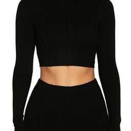 Snatched to the Top Long Sleeve Crop Top | Nordstrom