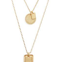 Etched Coin Necklace Set | Nordstrom