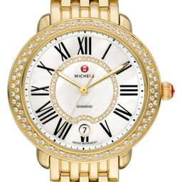 Serein 16 Diamond Gold Plated Watch Case, 34mm x 36mmMICHELE   Nordstrom Rack