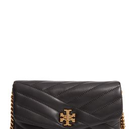 Kira Chevron Quilted Leather Wallet on a Chain | Nordstrom