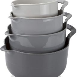 Cook with Color Mixing Bowls - 4 Piece Nesting Plastic Mixing Bowl Set with Pour Spouts and Handl... | Walmart (US)