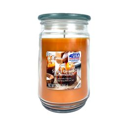 Mainstays Salted Caramel Butterscotch Scented Single-Wick Large Glass Jar Candle, 20 oz. - Walmar...   Walmart (US)