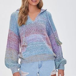 Colorblock Sweater-Knit Hoodie | Forever 21 (US)