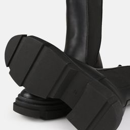 Black Chunky Pull On Ankle Boots | Missguided (UK & IE)