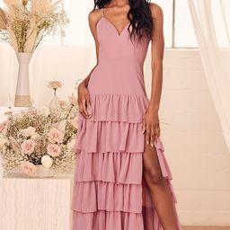 Too Good to Be True Vintage Rose Tiered Sleeveless Maxi Dress | Lulus (US)