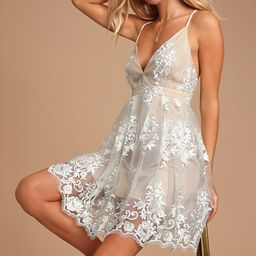 A Love To Remember White Lace Backless Skater Dress | Lulus (US)
