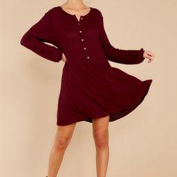 Steal My Time Merlot Dress | Red Dress