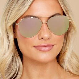 Dash Gold Taupe Flash Sunglasses | Red Dress