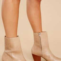 Caty Tan Snake Ankle Boots | Red Dress