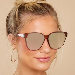 Gia Cafe Ole And Taupe Flash Sunglasses | Red Dress