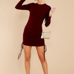 City Walks Dark Wine Dress   Red Dress