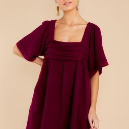 Drop The Act Wine Dress   Red Dress