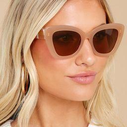 The Bardot Nude Brown Sunglasses   Red Dress