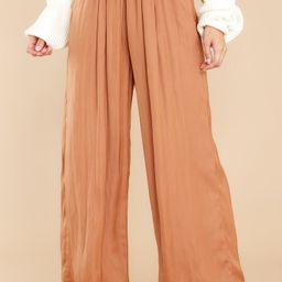 Elevated Style Cinnamon Pants   Red Dress