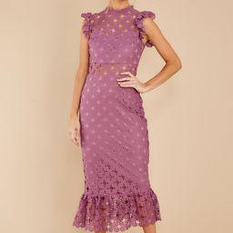 Love's High Hopes Plum Crochet Midi Dress | Red Dress