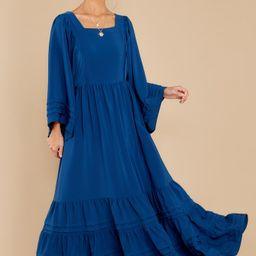 Clean Slate Indigo Maxi Dress | Red Dress
