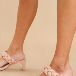Alluring Ways Nude High Heel Sandals | Red Dress