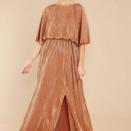 Night Of Elegance Bronze Maxi Dress | Red Dress