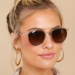 Camden Crystal Brown Gradient Sunglasses | Red Dress