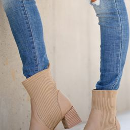 Seal The Deal Tan Ankle Booties | Red Dress