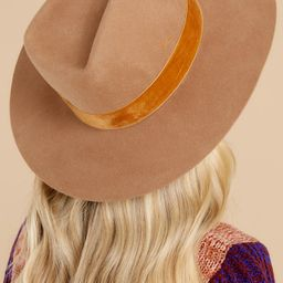 Benson Brown Tri Hat | Red Dress