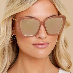 Becky IV Rustique Beige Mirror Sunglasses | Red Dress