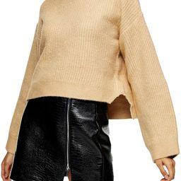 Crop Funnel Neck Sweater   Nordstrom Rack