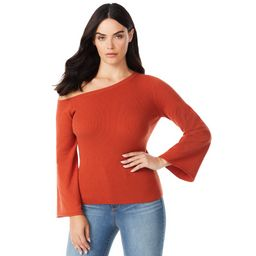 Sofia Jeans by Sofia Vergara - Sofia Jeans by Sofia Vergara Women's One-Shoulder Pullover Sweater... | Walmart (US)