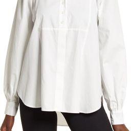 Oversize Panel Puff Sleeve Poplin Shirt | Nordstrom