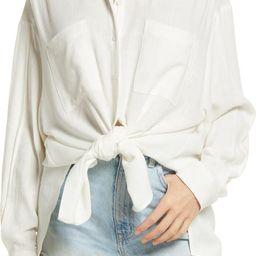 Oversize Button-Up Shirt   Nordstrom