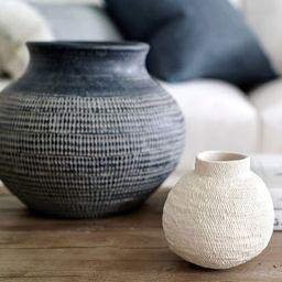 Fraiser Handcrafted Etched Vase   Pottery Barn (US)