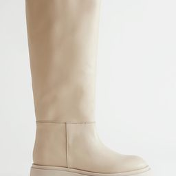 Chunky Sole Tall Leather Boots   & Other Stories