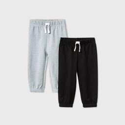 Baby Boys' 2pk Jogger Pants - Cat & Jack™ Gray/Black | Target
