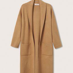 Oversized coat with pockets   MANGO (US)